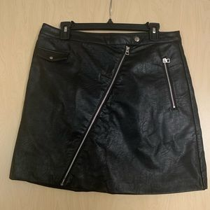 H&M faux leather moto skirt